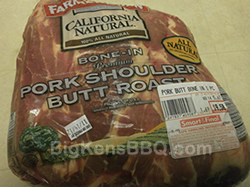 Boston Butt pork roast in package